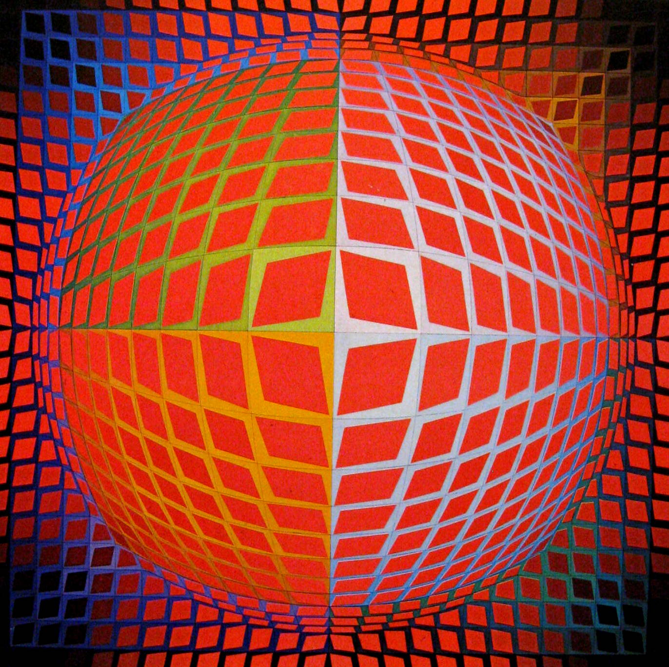 Vasarely Black And White Paintings