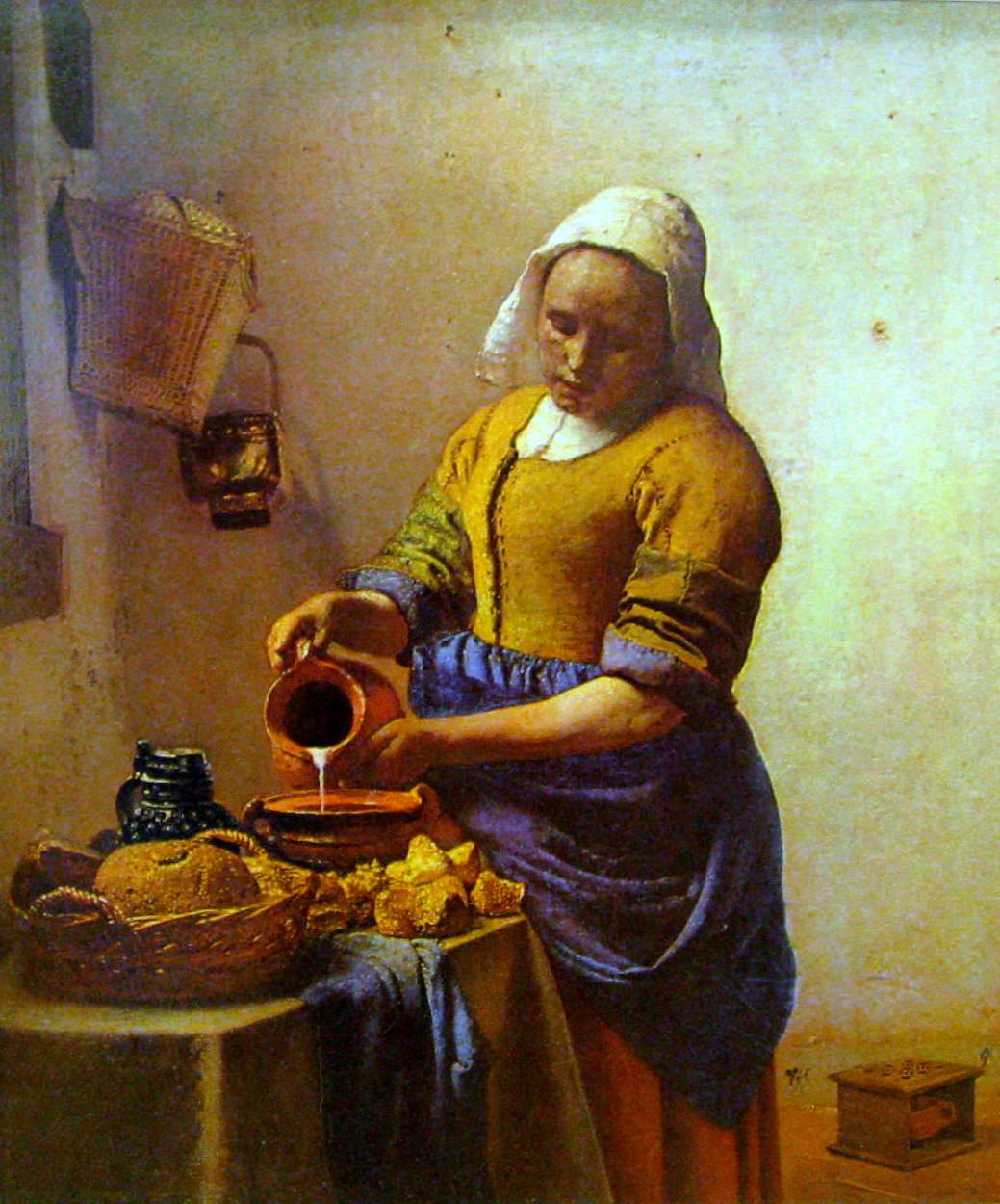 U201cMaidservant Pouring Milku201d (Also Referred To As U201cThe Kitchen Maidu201d) 18u201d X  16u201d (Circa 1655 1660).