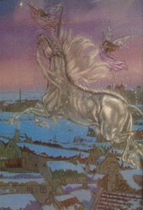 Michael Hague Unicorn and Fairies Illustration